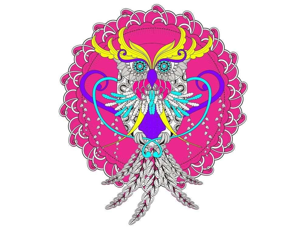 Набор-антистресс для вышивания «Узор филина»
