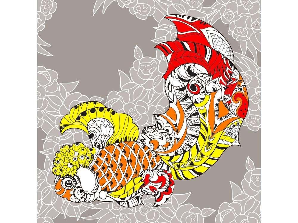 Набор-антистресс для вышивания «Узор золотой рыбки»