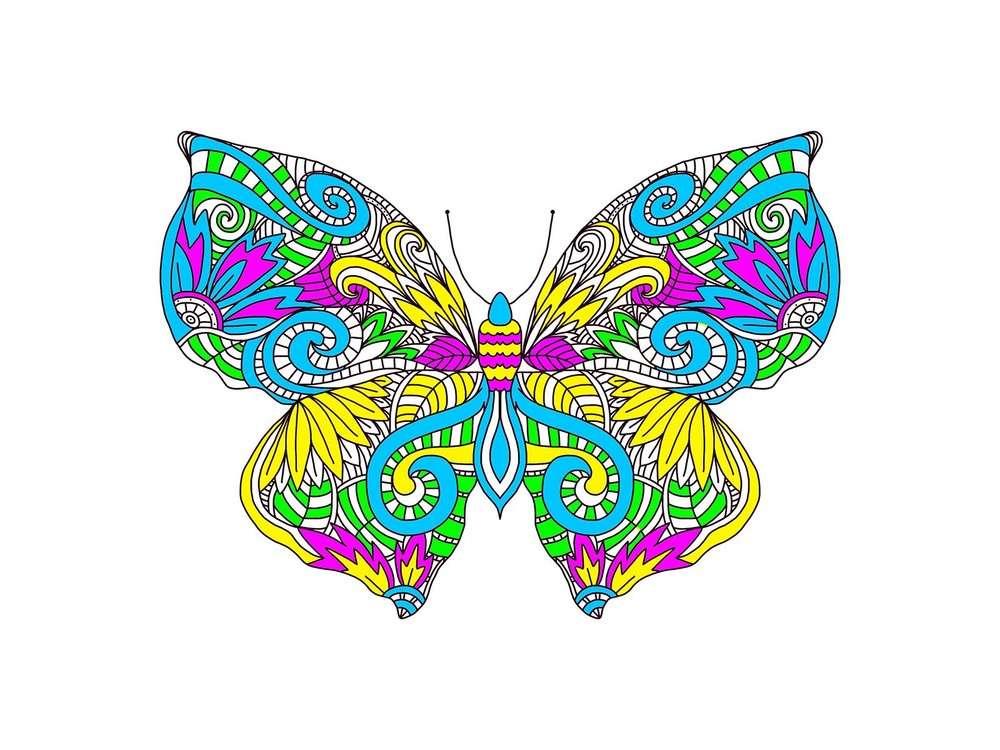 Набор-антистресс «Узор бабочки»Вышивка подушек Матренин Посад<br><br><br>Артикул: 1863/Н<br>Основа: хлопок К5.5<br>Размер: 41x41 см<br>Техника вышивки: рисунок нитками<br>Размер вышитой работы: 36x36 см<br>Количество цветов: 12<br>Заполнение: Частичное<br>Рисунок на канве: нанесён рисунок<br>Техника: Вышивка подушек<br>Нитки: нитки мулине ПНК им. Кирова