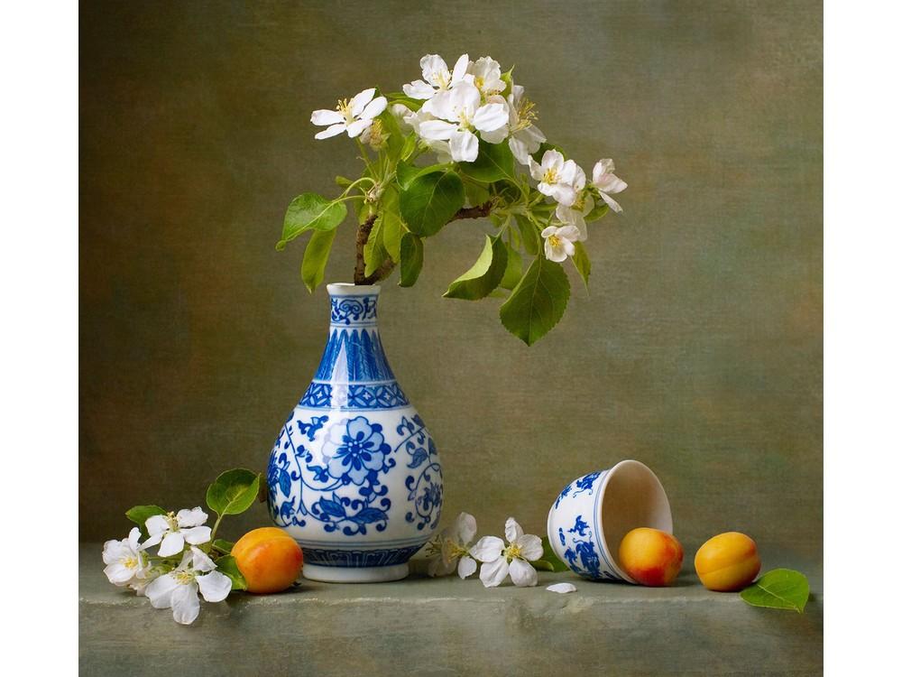 Набор для вышивания «Натюрморт с абрикосами»Вышивка подушек Матренин Посад<br><br>