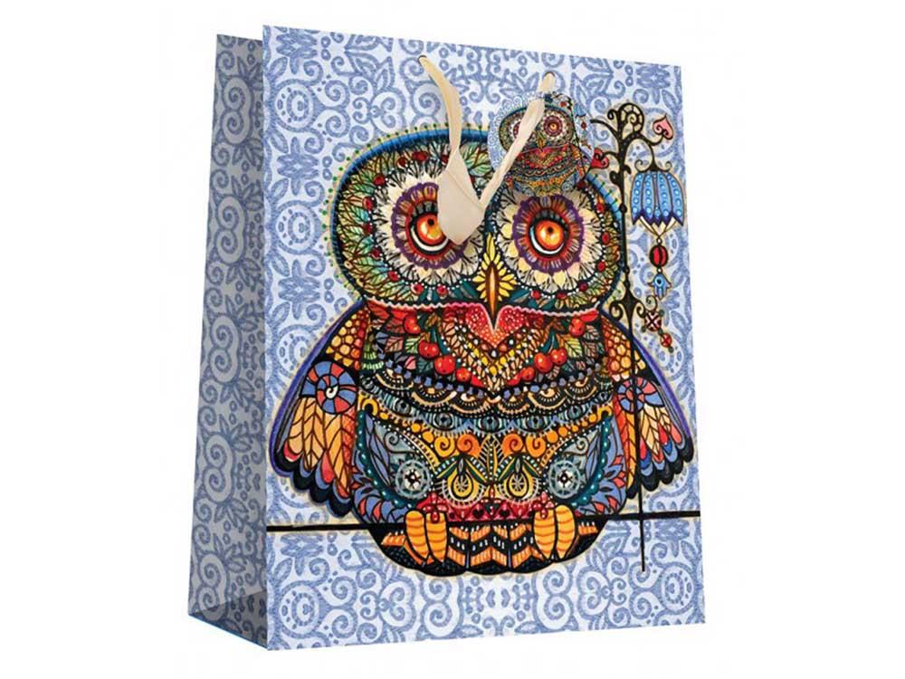 Подарочный пакет «Волшебная сова»Подарочные пакеты<br><br><br>Артикул: 1901-SB<br>Размер: 26x12x32 см