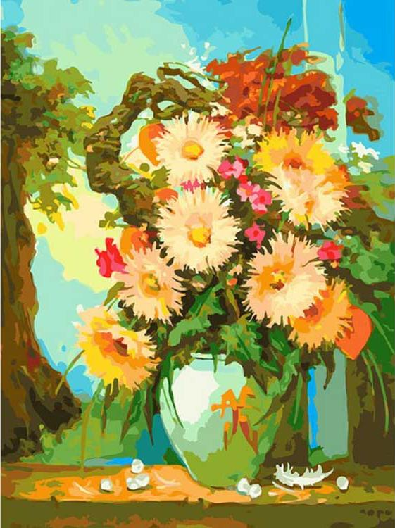Картина по номерам «Японский натюрморт»Картины по номерам Белоснежка<br><br><br>Артикул: 193-AS<br>Основа: Холст<br>Сложность: очень сложные<br>Размер: 30x40 см<br>Количество цветов: 36<br>Техника рисования: Без смешивания красок