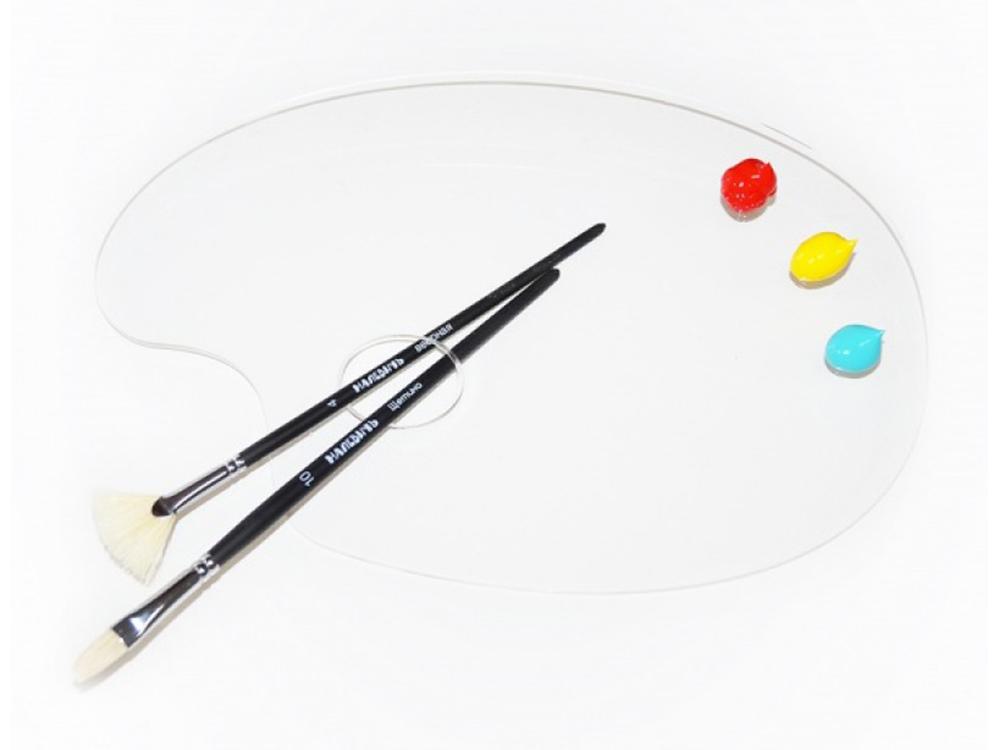 Палитра из оргстеклаАксессуары для рисования картин по номерам<br>Удобно пользоваться для рисования и смешивания красок. Традиционная форма - залог комфортного рисования. Легко очищается от излишков краски. Гладкая поверхность палитры поддается чистке без усилий, что значительно сокращает время работы художника. Обе...<br>