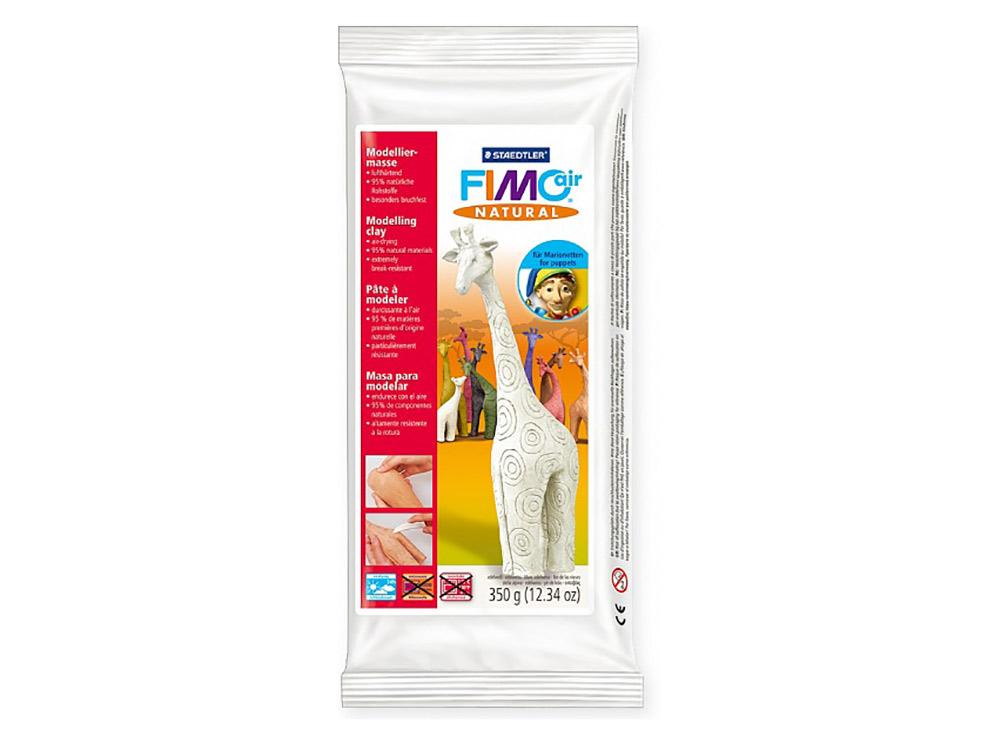 Cамозатвердевающая полимерная глина FIMOair natural (белый) 350 гСамозатвердевающая глина<br><br><br>Артикул: 8150-02<br>Вес: 350 г<br>Цвет: Белый<br>Серия: FIMOair natural