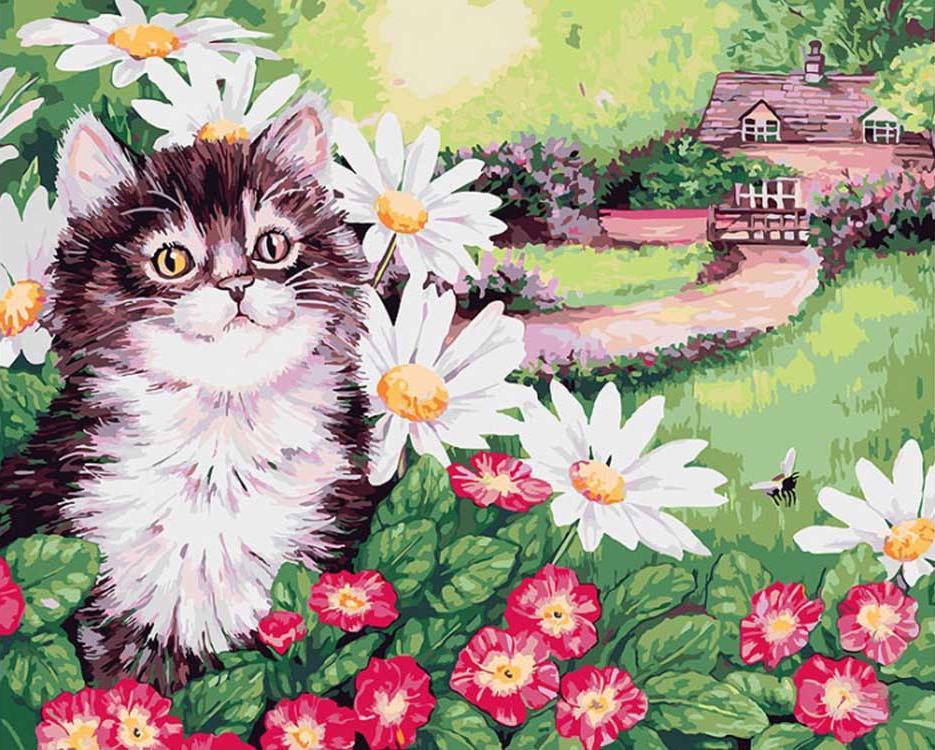 Картина по номерам «Пушистик» Джейн МэдейКартины по номерам Белоснежка<br><br><br>Артикул: 308-AS<br>Основа: Холст<br>Сложность: очень сложные<br>Размер: 30x40 см<br>Количество цветов: 28<br>Техника рисования: Без смешивания красок