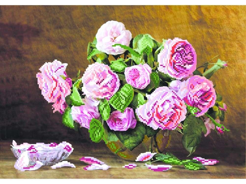 Набор вышивки бисером «Розовый аромат»Вышивка бисером Матренин Посад<br><br><br>Артикул: 0031/Б<br>Основа: ткань<br>Размер: 37x49 см<br>Техника вышивки: бисер<br>Тип схемы вышивки: Цветная схема<br>Размер вышитой работы: 27x38 см<br>Количество цветов: 14<br>Заполнение: Частичное<br>Рисунок на канве: нанесён рисунок и схема<br>Техника: Вышивка бисером
