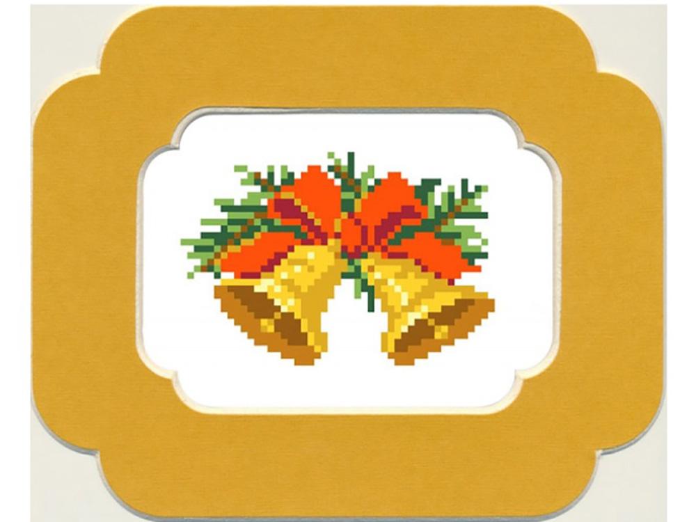 Набор вышивки бисером «Рождественские колокольчики»Вышивка бисером Матренин Посад<br><br><br>Артикул: 0050/БП<br>Основа: ткань<br>Размер: 13x18 см<br>Техника вышивки: бисер<br>Тип схемы вышивки: Цветная схема<br>Размер вышитой работы: 7x10 см<br>Количество цветов: 9<br>Заполнение: Частичное<br>Рисунок на канве: нанесён рисунок и схема<br>Техника: Вышивка бисером