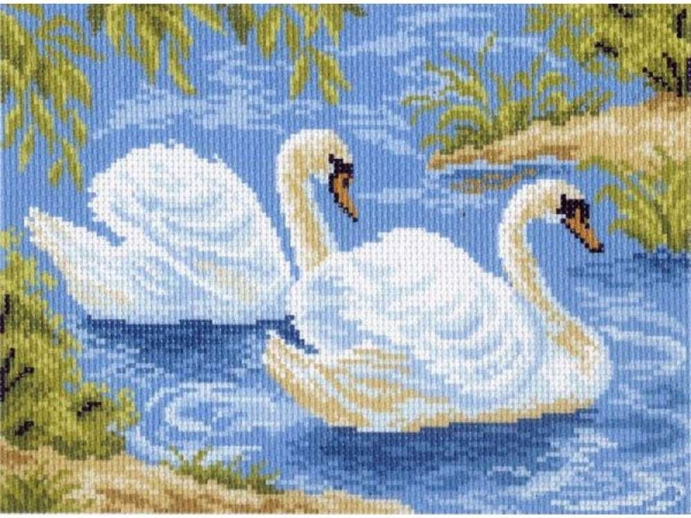 Набор для вышивания «Тундровые лебеди»Вышивка крестом Матренин Посад<br><br><br>Артикул: 0559/Н-1<br>Основа: канва Aida 14<br>Размер: 28x34 см<br>Техника вышивки: несчетный крест<br>Тип схемы вышивки: Цветная схема<br>Размер вышитой работы: 17x24 см<br>Количество цветов: 14<br>Заполнение: Полное<br>Рисунок на канве: нанесён рисунок и схема<br>Техника: Вышивка крестом