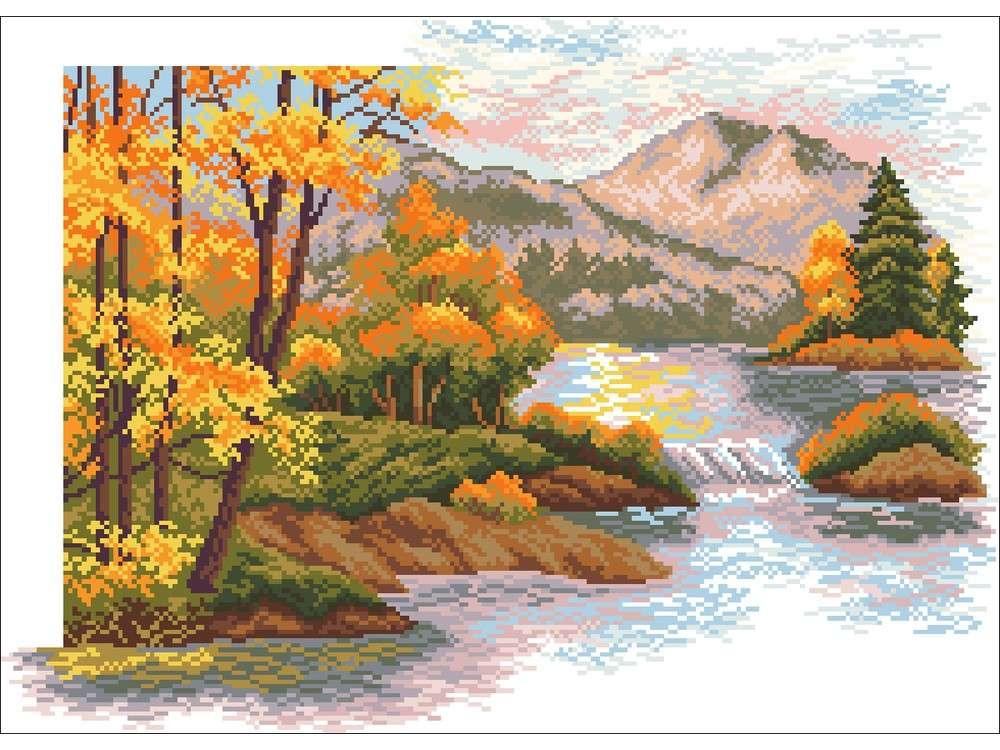 Набор для вышивания «Осенний закат в горах»Вышивка крестом<br><br>