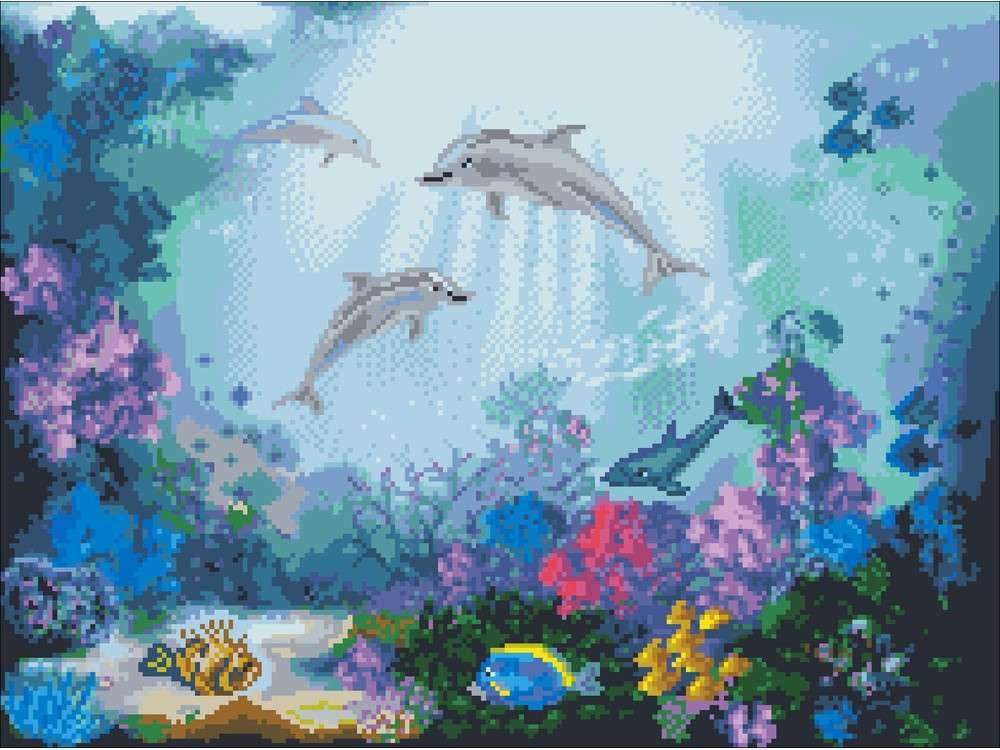 Набор для вышивания «Дружба дельфинов»Вышивка крестом Матренин Посад<br><br><br>Артикул: 6118/СК<br>Основа: канва Aida 14<br>Размер: 40x55 см<br>Техника вышивки: счетный крест<br>Тип схемы вышивки: Цветная схема<br>Цвет канвы: Белый<br>Размер вышитой работы: 28x38 см<br>Количество цветов: 35<br>Заполнение: Полное<br>Рисунок на канве: не нанесён<br>Техника: Вышивка крестом<br>Нитки: нитки мулине ПНК им. Кирова