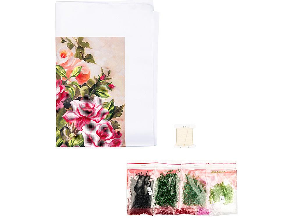 Вышивка розовая элегия 29
