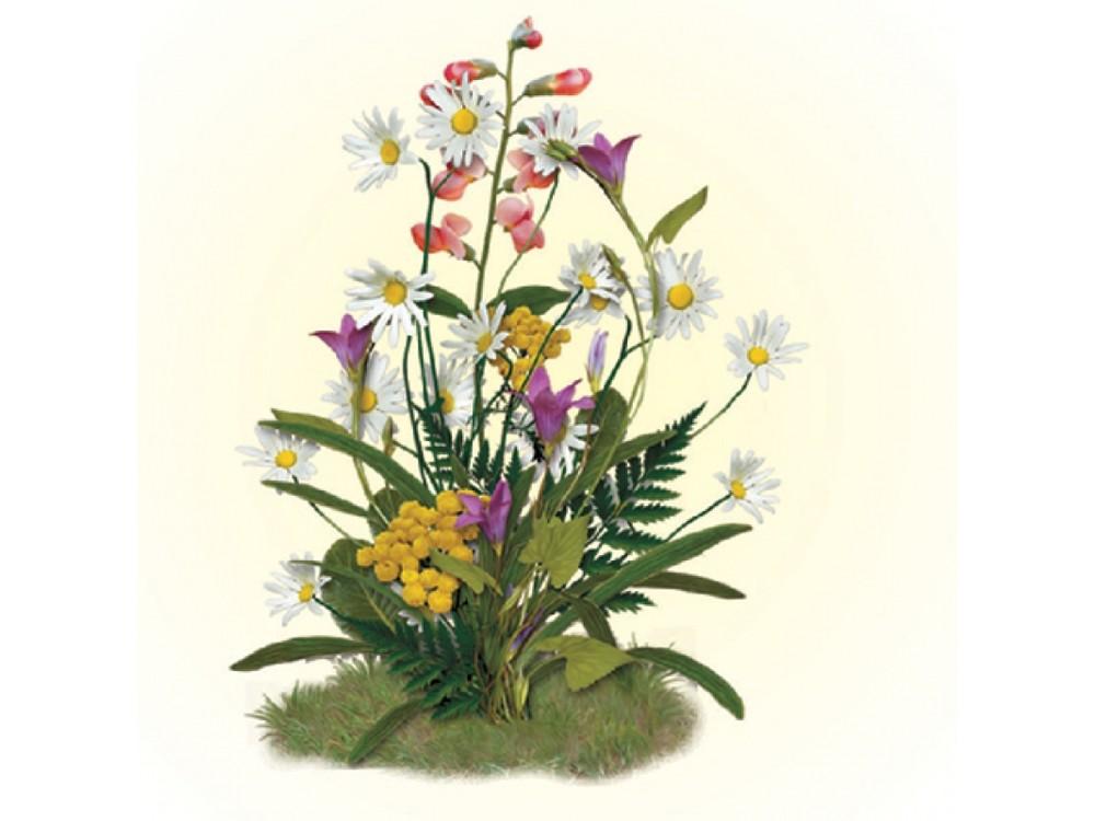 Вышивка полевых цветов 19