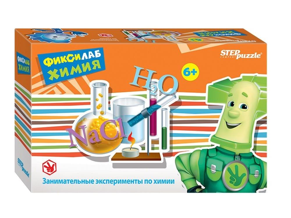 Развивающая игра «Фиксилаб. Химия»Наборы для опытов и экспериментов<br>Оригинальный набор для проведения экспериментов «Фиксилаб. Химия» — это эффективное средство обучения, которое развивает у ребенка познавательную активность и помогает исследовать окружающий мир. Комплект содержит все необходимое для проведения опытов ...<br><br>Артикул: 76169<br>Размер упаковки: 20x14x4 см<br>Возраст: от 6 лет<br>Количество игроков: 1+<br>Аудитория: Детские