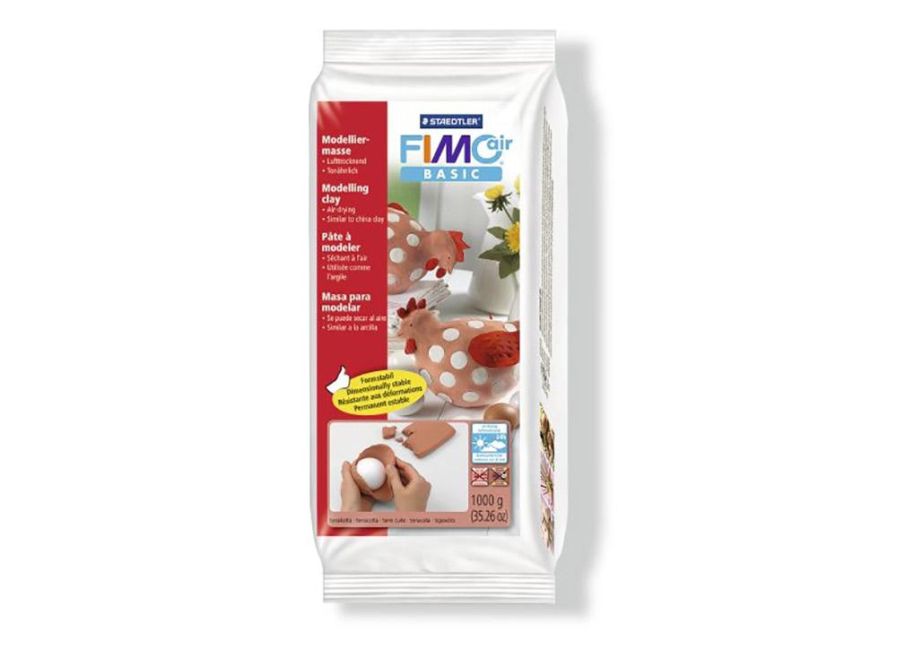 Cамозатвердевающая полимерная глина FIMOair Basic 76 (терракота) 1000 гСамозатвердевающая глина<br><br><br>Артикул: 8101-76<br>Вес: 1000 г<br>Цвет: Терракота<br>Серия: FIMOair Basic<br>Размер упаковки: 20x9,5x4 см