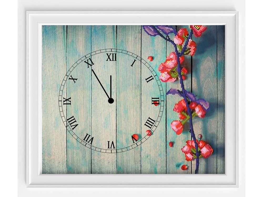 Набор вышивки бисером часов «Время весны»