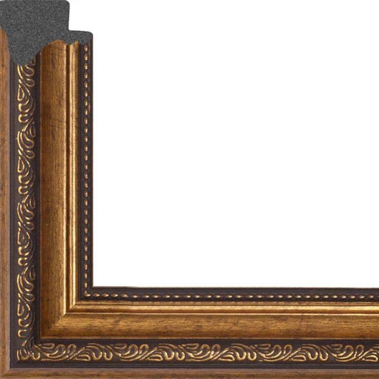 Рамка без стекла для картин «Doroti»Багетные рамки<br>Для картин на картоне. В комплект входит: рамка, задняя подложка, крючок-вешалка. Стекло в комплект не входит. При необходимости приобретайте стекло отдельно.<br><br>Артикул: 3040/d<br>Размер: 30x40 см<br>Цвет: Коричневый (античное золото)<br>Ширина: 35<br>Материал багета: Пластик<br>Толщина: 8 мм