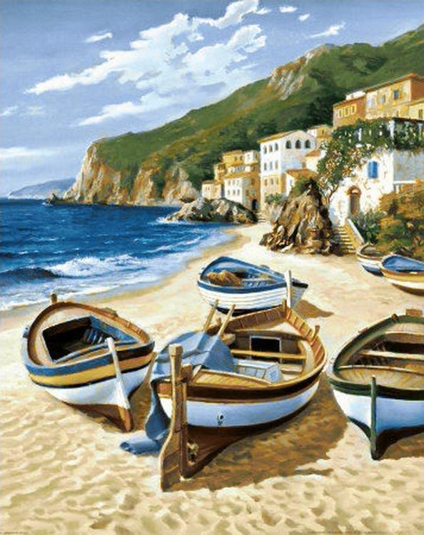 Алмазная вышивка «Рыбацкие лодки»Алмазная вышивка<br><br>