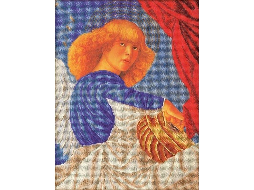 Набор вышивки бисером «Музицирующий ангел. Примо»Вышивка бисером Кроше (Радуга бисера)<br><br><br>Артикул: В-601<br>Основа: лен<br>Размер: 26x35 см<br>Техника вышивки: бисер<br>Тип схемы вышивки: Цветная схема<br>Заполнение: Частичное<br>Рисунок на канве: нанесён рисунок и схема<br>Техника: Вышивка бисером