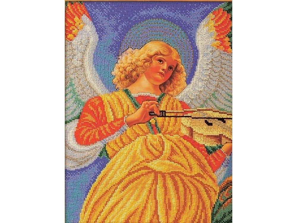 Набор вышивки бисером «Музицирующий ангел. Секондо»Вышивка бисером Кроше (Радуга бисера)<br><br><br>Артикул: В-602<br>Основа: лен<br>Размер: 26х35 см<br>Техника вышивки: бисер<br>Тип схемы вышивки: Цветная схема<br>Заполнение: Частичное<br>Рисунок на канве: нанесён рисунок и схема<br>Техника: Вышивка бисером