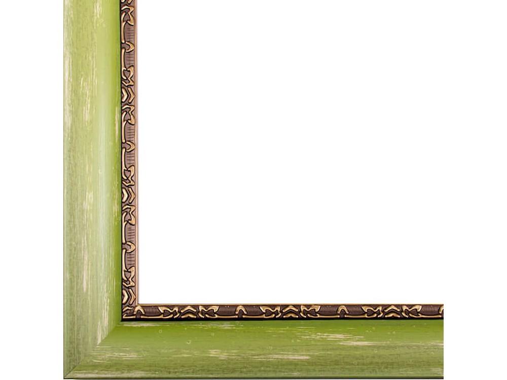 Рамка без стекла для картинБагетные рамки<br>Лист ДВП предназначен для защиты рамки от случайного удара, поэтому он выходит за пределы багета. Также углы рамки дополнительно упакованы в картонные уголки. Весь комплект упакован в термоусадочную пленку.<br><br>Артикул: BE003<br>Размер: 30x40 см<br>Цвет: Зеленый<br>Ширина: 45 мм<br>Материал багета: Пластик<br>Толщина: 17 мм<br>Глубина багета: 12 мм