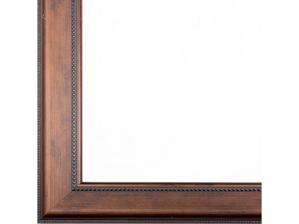 Рамка без стекла для картинБагетные рамки<br>Лист ДВП предназначен для защиты рамки от случайного удара, поэтому он выходит за пределы багета. Также углы рамки дополнительно упакованы в картонные уголки. Весь комплект упакован в термоусадочную пленку.<br><br>Артикул: BG006<br>Размер: 40x50 см<br>Цвет: Коричневый<br>Ширина: 41 мм<br>Материал багета: Пластик<br>Толщина: 19 мм<br>Глубина багета: 12 мм