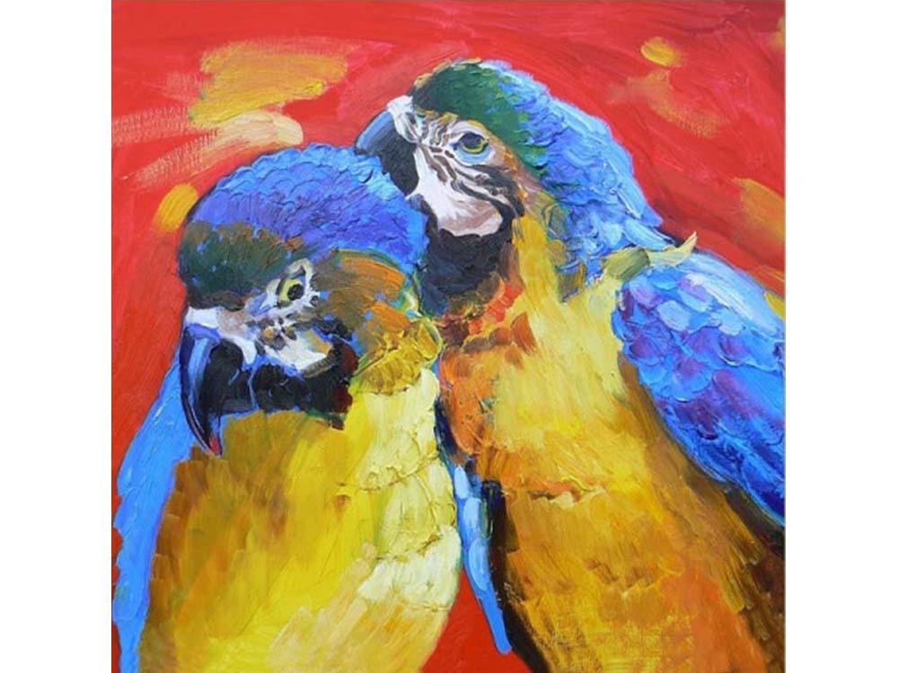 Мозаика из пайеток «Попугаи»Мозаика из пайеток<br><br><br>Артикул: CMD009<br>Основа: Холст на подрамнике<br>Размер: 30x30 см<br>Количество цветов: 9<br>Возраст: от 8 лет