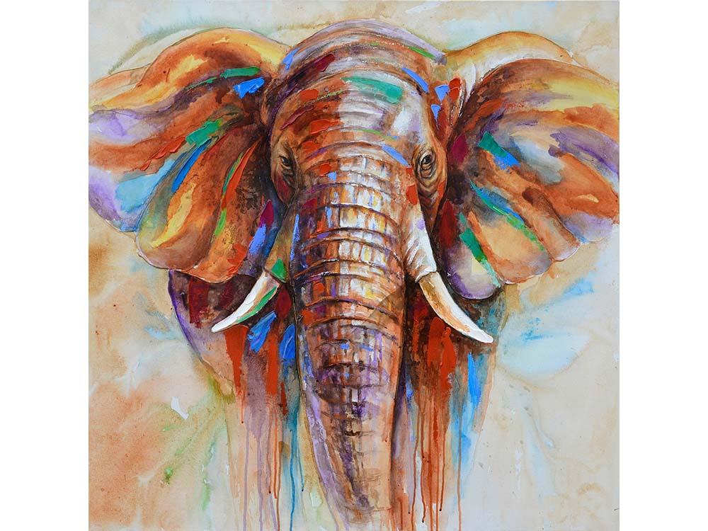 Купить Мозаика из пайеток «Слон», Color KIT, 30x30 см, CMD011