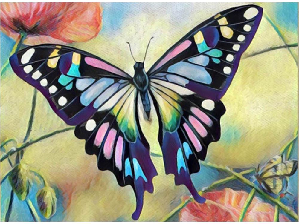 Мозаика из пайеток «Бабочка»Мозаика из пайеток<br><br><br>Артикул: CME008<br>Основа: Холст на подрамнике<br>Размер: 30x40 см<br>Количество цветов: 9<br>Возраст: от 8 лет