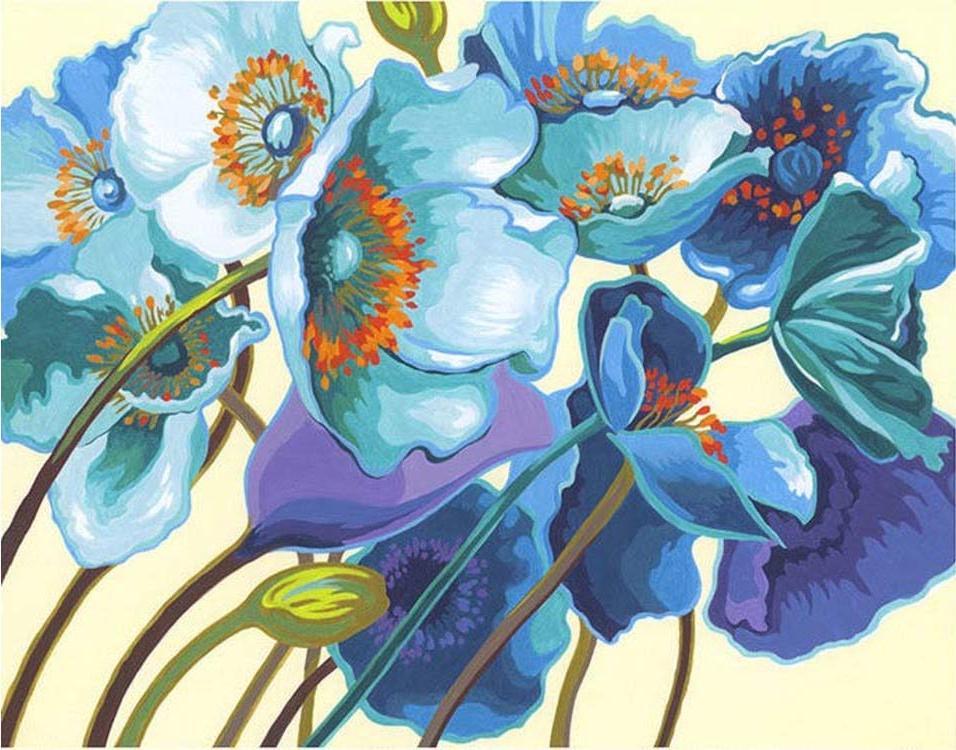Картина по номерам «Голубые маки»Раскраски по номерам Dimensions<br>Картина по номерам раскрашивается с применением техники смешивания красок.<br> <br> Dimensions - один из самых известных брендов товаров для хобби. Картины по номерам от этого производителя безупречны по качеству всех составляющих - от картонной основы до гер...<br><br>Артикул: DMS-73-91657<br>Основа: Картон<br>Сложность: легкие<br>Размер: 28x36 см<br>Количество цветов: 12<br>Техника рисования: Со смешиванием красок