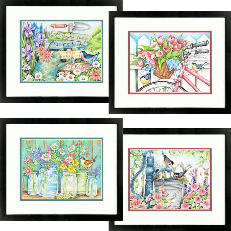 Картина по номерам «Садовые цветы» Сьюзан ВинджетРаскраски по номерам Dimensions<br>Картина по номерам «Садовые цветы» раскрашивается цветными карандашами!<br> <br> Dimensions - один из самых известных брендов товаров для хобби. Картины по номерам от этого производителя безупречны по качеству всех составляющих - от картонной основы до каранд...<br><br>Артикул: DMS-73-91659<br>Основа: Картон<br>Сложность: легкие<br>Размер: 4 шт. по 23x31 см<br>Количество цветов: 24<br>Техника рисования: Со смешиванием цветов