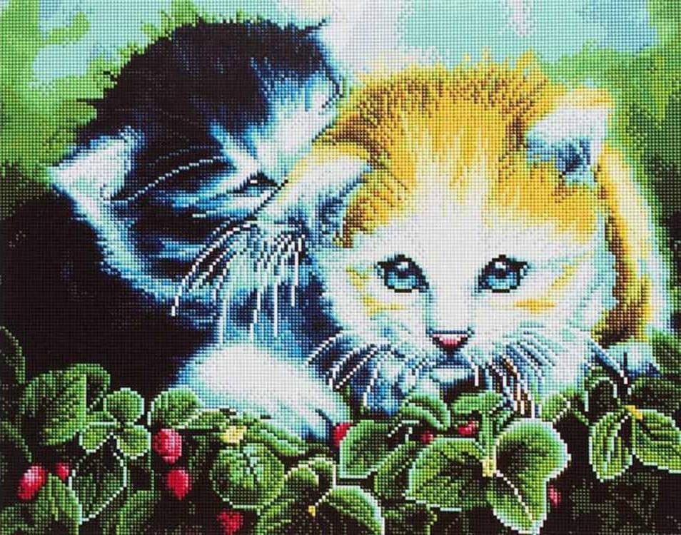 Алмазная вышивка «Два котеночка» Дженни НьюлэндАлмазная вышивка Painting Diamond<br><br><br>Артикул: GF1373<br>Основа: Холст на подрамнике<br>Сложность: очень сложные<br>Размер: 40x50 см<br>Выкладка: Полная<br>Количество цветов: 35