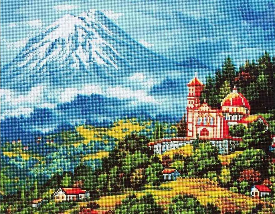 Алмазная вышивка «Пейзаж с вулканом»Алмазная вышивка Painting Diamond<br><br><br>Артикул: GF1374<br>Основа: Холст на подрамнике<br>Сложность: очень сложные<br>Размер: 40x50 см<br>Выкладка: Полная<br>Количество цветов: 37