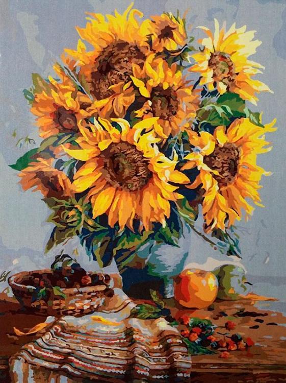 Картина по номерам «Летний натюрморт» Юрия СизоненкоPaintboy (Premium)<br><br><br>Артикул: GX7542<br>Основа: Холст<br>Сложность: средние<br>Размер: 40x50 см<br>Количество цветов: 27<br>Техника рисования: Без смешивания красок