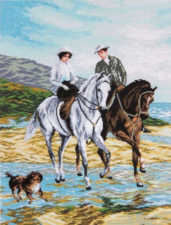 Алмазная вышивка «Прогулка на лошадях»Алмазная вышивка Painting Diamond<br><br><br>Артикул: GF1185<br>Основа: Холст на подрамнике<br>Сложность: очень сложные<br>Размер: 40x50 см<br>Выкладка: Полная<br>Количество цветов: 36