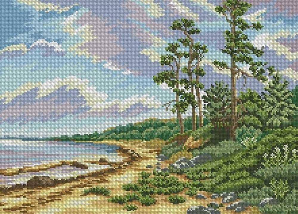 Алмазная вышивка «Песчаный берег»Алмазная вышивка<br><br>