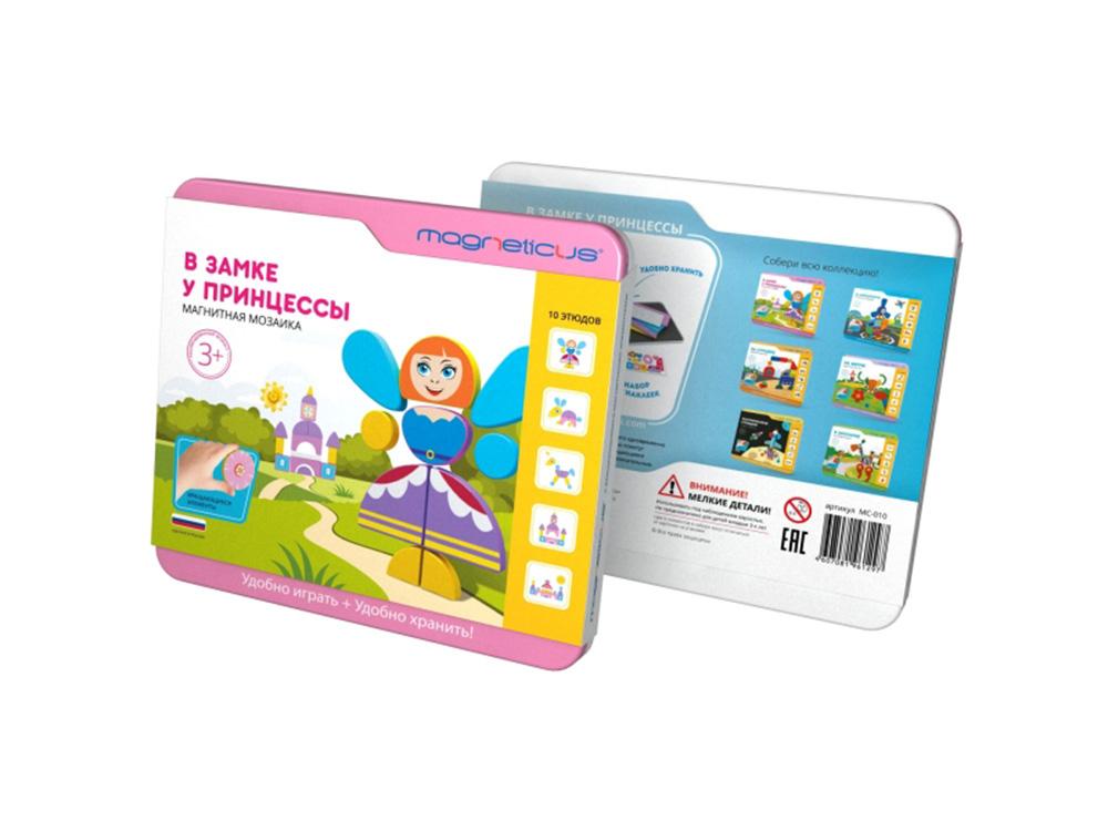 Магнитная мозаика «В замке у Принцессы»Магнитные наборы<br>Мягкая магнитная мозаика - это одновременно и развлекательная, и обучающая игра. Картинки-сюжеты помогут полностью погрузить ребенка в изучаемую тему, а вращающиеся элементы сделают процесс сборки занимательным и увлекательным. Игра в мозаику способст...<br><br>Артикул: МС-010<br>Размер упаковки: 21,5x20x2,5 см<br>Возраст: от 3 лет