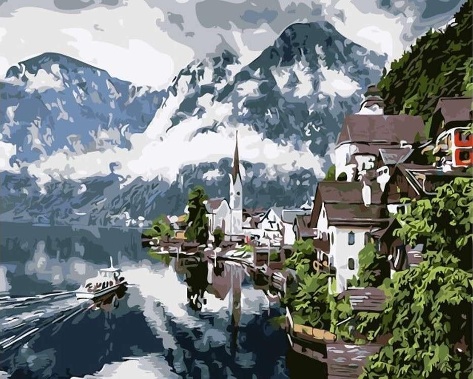 Картина по номерам «Туман над горами»Цветной (Premium)<br><br><br>Артикул: MG6012_Z<br>Основа: Холст<br>Сложность: сложные<br>Размер: 40x50 см<br>Количество цветов: 26<br>Техника рисования: Без смешивания красок