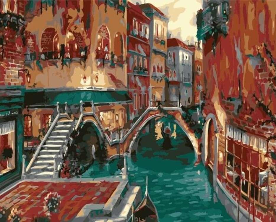 Картина по номерам «Венеция»Цветной (Premium)<br><br><br>Артикул: MG6124_Z<br>Основа: Холст<br>Сложность: сложные<br>Размер: 40x50 см<br>Количество цветов: 23<br>Техника рисования: Без смешивания красок