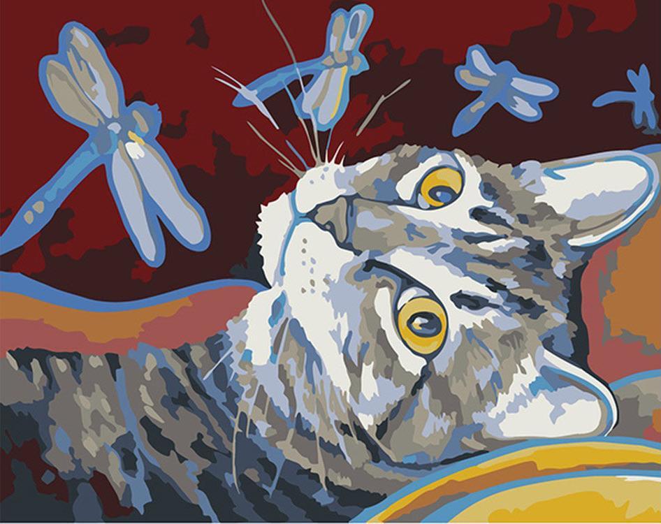"""Картина по номерам «Арсений и стрекозы» (мини-раскраска)Мини-раскраска<br>Картина по номерам раскрашивается с применением техники смешивания красок.<br> <br> Картины по номерам """"Артвентура"""" в компактном мини-размере. Российский производитель картин премиум-класса креативно реализовал идею и пожелания многих поклонников раскрасок по...<br><br>Артикул: MINI16130101<br>Основа: Картон<br>Сложность: средние<br>Размер: 16,5x13 см<br>Количество цветов: 16<br>Техника рисования: Со смешиванием красок"""
