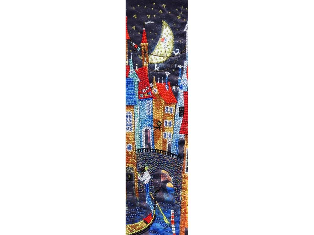 Набор вышивки бисером «Ночь в Венеции» Владимира ПугачеваВышивка бисером Золотое Руно<br><br><br>Артикул: РТ-156<br>Основа: искусственный шелк<br>Размер: 34x10 см<br>Техника вышивки: бисер<br>Тип схемы вышивки: Цветная схема<br>Количество цветов: 16<br>Заполнение: Частичное<br>Рисунок на канве: нанесён рисунок и схема<br>Техника: Вышивка бисером