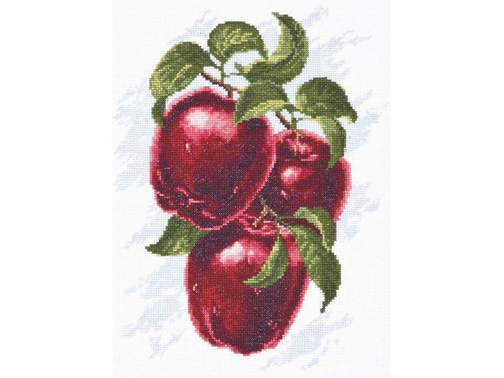 Набор для вышивания «Спелые яблоки»Вышивка крестом Палитра<br><br><br>Артикул: 04.005<br>Основа: канва Aida 16<br>Размер: 20х25 см<br>Техника вышивки: счетный крест<br>Тип схемы вышивки: Цветная схема<br>Цвет канвы: Белый<br>Количество цветов: 19<br>Рисунок на канве: не нанесён<br>Техника: Вышивка крестом