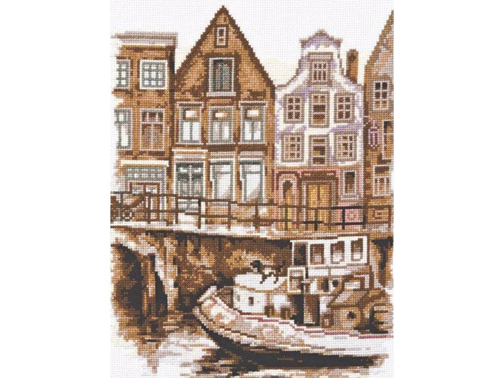 Набор для вышивания «Набережная Амстердама»Вышивка крестом Палитра<br><br><br>Артикул: 08.021<br>Основа: канва Aida 14<br>Размер: 24x34 см<br>Техника вышивки: счетный крест<br>Тип схемы вышивки: Цветная схема<br>Цвет канвы: Белый<br>Количество цветов: 17<br>Рисунок на канве: не нанесён<br>Техника: Вышивка крестом
