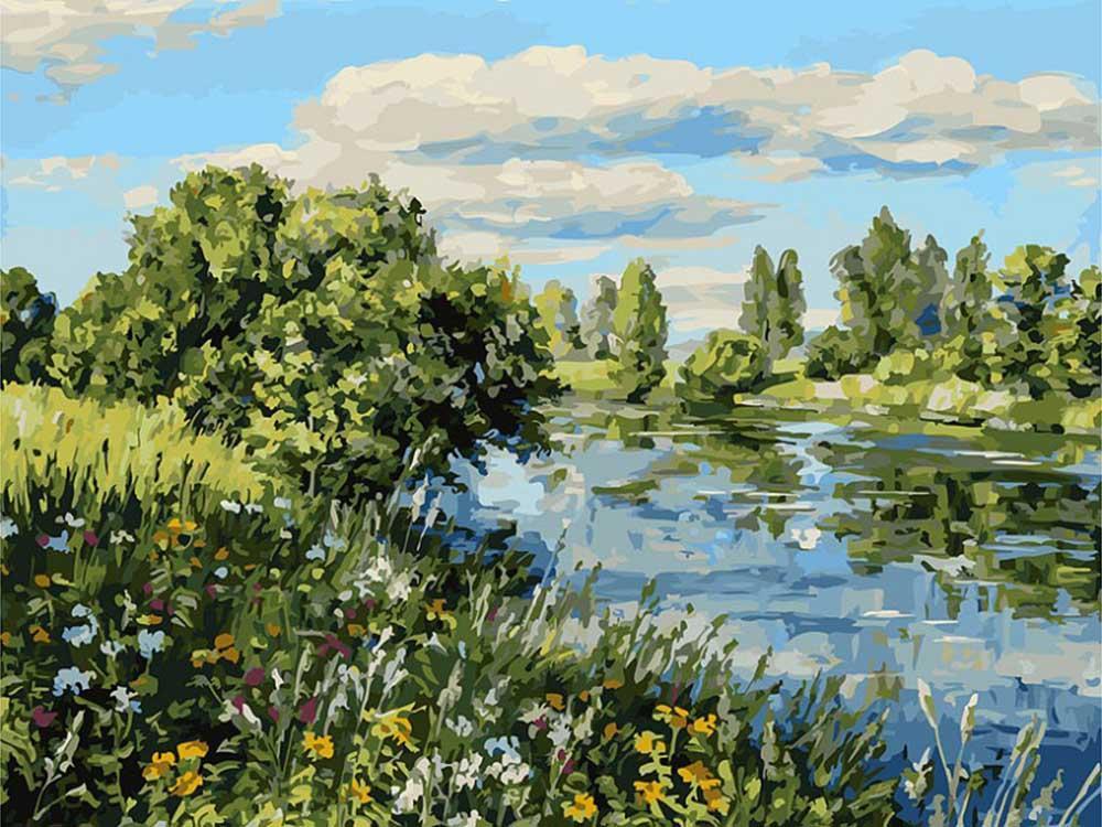 Картина по номерам «Летний день у реки» творческого коллектива Artemis