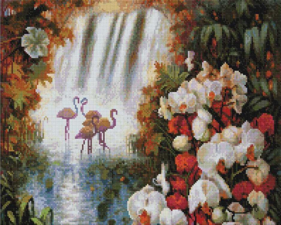 Алмазная вышивка «Райский сад» Елены КалашниковойАлмазная вышивка фирмы Белоснежка<br><br><br>Артикул: 209-ST-S<br>Основа: Холст на подрамнике<br>Сложность: очень сложные<br>Размер: 40x50 см<br>Выкладка: Полная<br>Количество цветов: 53<br>Тип страз: Квадратные