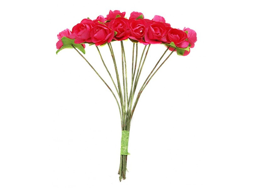 Набор цветов «Роза розовая»Бумага и материалы для скрапбукинга<br><br><br>Артикул: 4502-SB<br>Размер: (бутона) 1-1,3 см<br>Количество: 48 шт.<br>Материал: Бумага, проволока