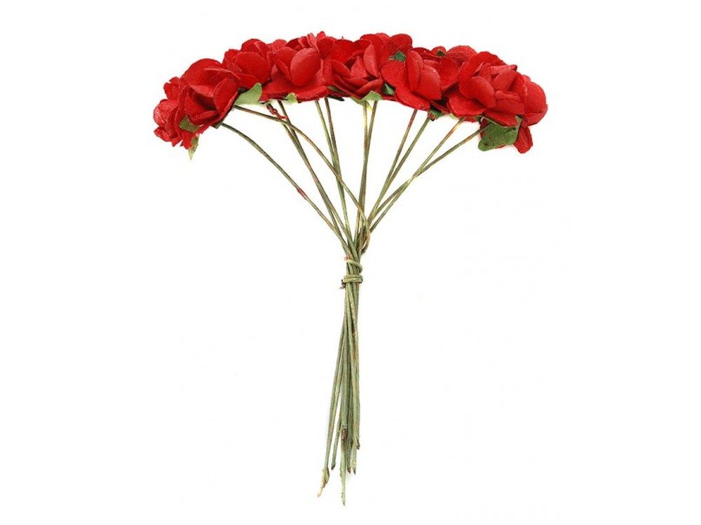 Набор цветов «Роза красная»Бумага и материалы для скрапбукинга<br><br><br>Артикул: 4503-SB<br>Размер: (бутона) 1-1,3 см<br>Количество: 48 шт.<br>Материал: Бумага, проволока