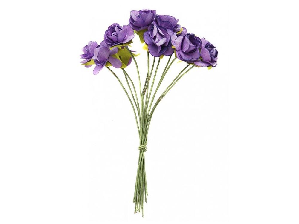 Набор цветов «Роза фиолетовая»Бумага и материалы для скрапбукинга<br><br><br>Артикул: 4506-SB<br>Размер: (бутона) 1-1,3 см<br>Количество: 48 шт.<br>Материал: Бумага, проволока