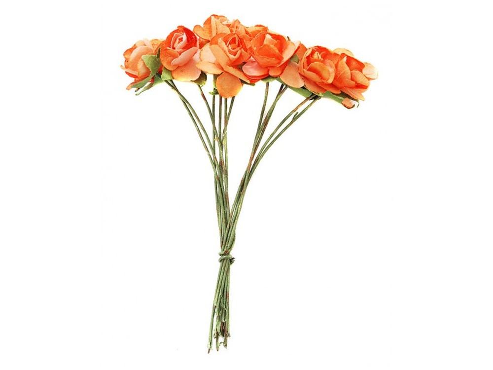 Набор цветов «Роза коралловая»Бумага и материалы для скрапбукинга<br><br><br>Артикул: 4507-SB<br>Размер: (бутона) 1-1,3 см<br>Количество: 48 шт.<br>Материал: Бумага, проволока