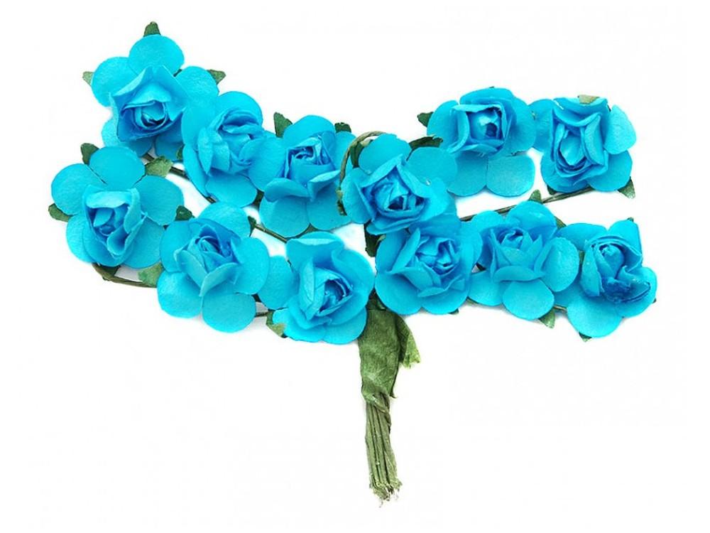 Набор цветов «Роза синяя»Бумага и материалы для скрапбукинга<br><br><br>Артикул: 4508-SB<br>Размер: (бутона) 1-1,3 см<br>Количество: 48 шт.<br>Материал: Бумага, проволока