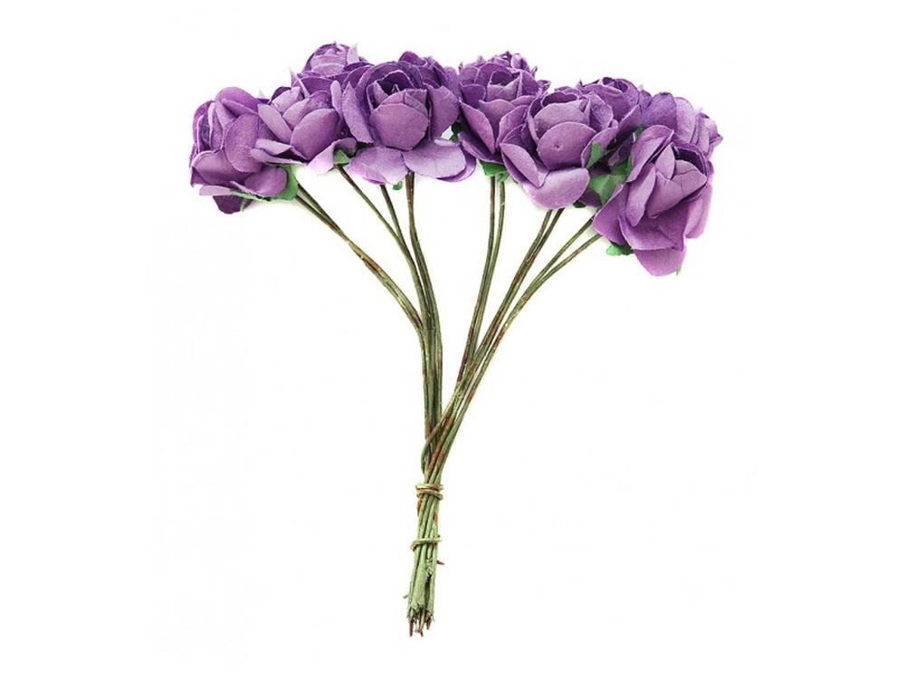 Набор цветов «Бегония светло-фиолетовая»Бумага и материалы для скрапбукинга<br><br><br>Артикул: 4515-SB<br>Размер: (бутона) 2 см<br>Количество: 48 шт.<br>Материал: Бумага, проволока